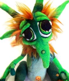 Custom Made  for you ooak Needle Felt Fantasy Goblin Wool Fiber Art Doll Soft Sculpture  Made to order. $375.00, via Etsy.
