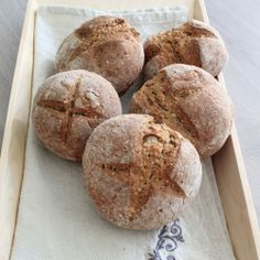 Pearl barley bread rolls | This photo was taken in our Thermomix test kitchen. The image is not featured in the cookbook. #cookingformeandyou