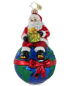 Christopher Radko Christmas Ornament, On Top of the World Environmental Charity - All Christmas Ornaments - Holiday Lane - Macy's