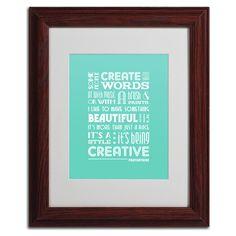 'Creative Running I' by Megan Romo Framed Textual Art