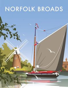 This Norfolk Broads Art Print is created using state of the art, industry leading Digital printers. The result - a stunning reproduction at an affordable price. A stunning Art Print featuring the design of Norfolk Broads, Norfolk, East Anglia. Norfolk Broads, Norfolk Coast, Portsmouth, Norwich Norfolk, National Railway Museum, Railway Posters, Poster Prints, Art Prints, Art Posters