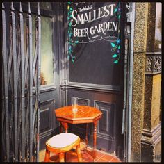 The worlds smallest #pub #beer garden apparently, capacity 3! There has to be smaller?! #assemblyhouse #kentishtown Get the #Kooky #London #App http://bit.ly/11XgicP #ig_London #igLondon #London_only #UK #England #English #GreatBritain #British #iPhone #quirky #odd #weird #photoftheday #photography #picoftheday #igerslondon #lovelondon #timeoutlondon #instalondon #londonslovinit #mylondon #Padgram