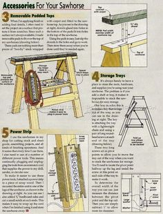 #1093 Sawhorse Upgrades - Workshop Solutions Plans, Tips and Tricks