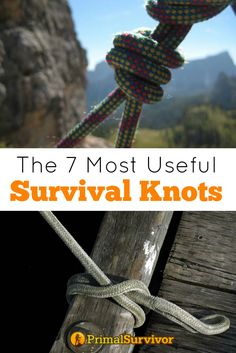 The 7 Most Useful Survival Knots You Need to Know. Rope is one of the most important pieces of survival kit to have in your bug out bag. Improperly tied rope could result in disaster – like when your tarp shelter comes untied and cashes down on you in the middle of a thunder storm or the boat you tied up gets loose and floats downstream. There are literally thousands of different ways to tie rope. You probably aren't going to learn all of them, so start with these 7 most useful survival…