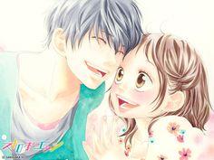 Strobe Edge... It's probably my favorite manga so far ^3^ I NEED TO FINISH DENGEKI DAISY AND AO HARU RIDE TT^TT