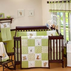 My Friend Pooh Four-Piece Bedding Set. Your little one will love this beautiful four piece crib set featuring Pooh, Piglet and Tigger.