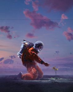 BEEPLE is Mike Winkelmann. A graphic designer from Charleston, SC, USA who does a variety of digital artwork including short films, Creative Commons VJ loops, everydays and VR / AR work. Galaxy Painting, Galaxy Art, Astronaut Wallpaper, Space Artwork, Space Odity, Retro Futurism, Surreal Art, Galaxy Wallpaper, Cute Wallpapers