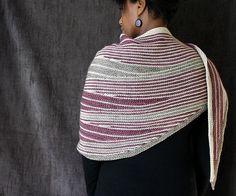 JimiKnits' LongStuff 3 Colour - Great short row shawl.