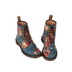 new style 52b2d 734ff Dr. Martens Floral Shoes Doc Martens, Söta Skor, Fotspår, Frisyrer