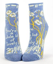 """Blue Q Women's Ankle Socks """"You're A Whole Lot of Lovely"""""""