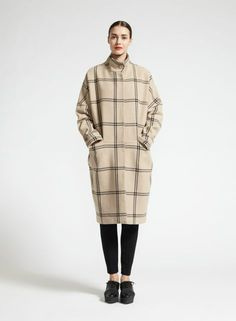 Ronski coat (sand, black) | Clothing, Women, Jackets & Coats | Marimekko