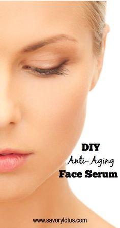 DIY Anti-Aging Face Serum - savorylotus.com #natural #beauty #DIY