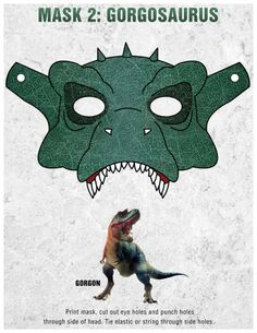 Printable Gorgon Dinosaur Mask Craft
