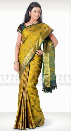 Chamara Kanchipuram Saree http://www.harinisilks.com/chamara-kanchipuram-saree.html