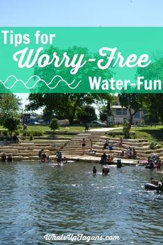 10 Tips for worry-free water-fun this summer at the pool, river, or wherever with young kids. Great tips for families on water safety.