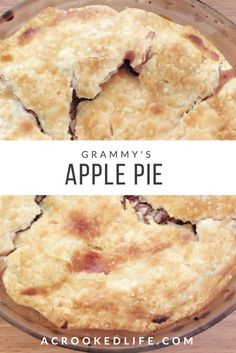 Have you been looking for a easy and delicious apple pie recipe? Look no further, Grammy's Apple Pie is just that! | @acrookedlife | Apple Pie | Baking | A Crooked Life