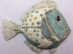 Small green spotty ceramic fish, ceramic wall art. Fish wall hung sculpture, Fis... - #art #Ceramic #Fis #fish #green #hung #Sculpture #Small #spotty #Wall