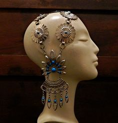 Tribal Fusion Headdress  Vintage Belly Dance  by TheGewgawGilly, $85.00