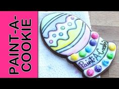 How to make candy paint to create an edible paintable cookie - Paint-A-Cookie - Candy edible paints - YouTube