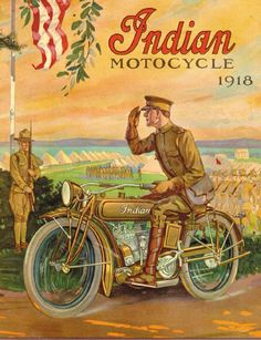 1918 Indian Motocycle ad