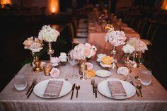 Rose Gold flatware Ruffled - photo by Heidi Ryder Photography http://ruffledblog.com/dreamy-rose-gold-wedding  Day of Gal Wedding