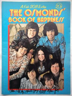 Vintage Fab 208 Magazine Extra 1973 The Osmonds' Book of Happiness | eBay