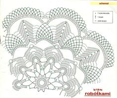 Kira scheme crochet: Scheme crochet no. Free Crochet Doily Patterns, Crochet Doily Diagram, Crochet Chart, Filet Crochet, Crochet Motif, Crochet Round, Crochet Dollies, Crochet Potholders, Crochet Tablecloth