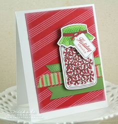 "Uses Papertrey Ink's ""Friendship Jar Holiday Fillers"" and ""Friendship Jar"" sets"