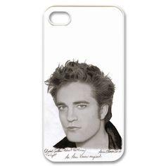 Edward Cullen 1 iPhone 4 or 4S Hard Plastic White case cover 00170  $16.99 Robert Pattinson Twilight