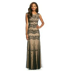 Adrianna Papell Long Beaded Dress at www.herbergers.com