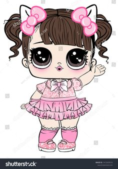 Lol Doll Design Baby Tshirt stock illustrations, images and vectors 1412429510 … - Modern Hello Kitty, Doll Drawing, Baby T Shirts, Cute Cartoon Girl, Lol Dolls, Baby Design, Cute Drawings, League Of Legends, Paper Dolls