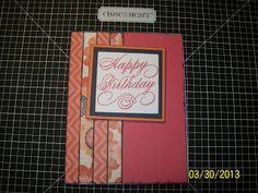 Inky Fingers Card Workshop - See the 'Calendar & Classes' tab on my blog. Thanks! The Sassy Scrapper  - Close to my Heart - CTMH
