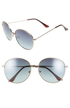 BP. 58mm Round Metal Sunglasses available at #Nordstrom
