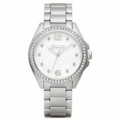 Tristen Stainless Steel Crystal Bracelet Watch from Coach