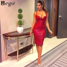 ee826374 Cheap dress motorcycle, Buy Quality dress winter directly from China dress  fantasy Suppliers: 2017 Women Winter PU leather dress BUSTIER PENCIL  celebrity ...