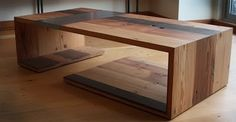 Reclaimed wooden coffee tables!