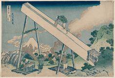 In the Mountains of Tôtômi Province (Tôtômi sanchû), from the series Thirty-six Views of Mount Fuji (Fugaku sanjûrokkei)  Japanese about 1830–31 (Tenpô 1–2) Artist Katsushika Hokusai (Japanese, 1760–1849)
