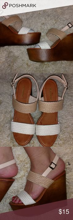 Braid Wedges Never worn Bamboo Shoes Wedges