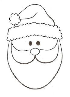 Best Photos of Santa Claus Face Pattern Template - Santa Face Template Printable, Santa Face Template Coloring Page and Santa Face Template Printable Christmas Stencils, Christmas Templates, Christmas Printables, Santa Template, Face Template, Christmas Sewing, Felt Christmas, Christmas Ornaments, Santa Head