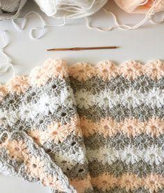 crochet petal stitch blanket by daisy farm crafts