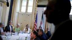 Tentative agreement on sanctions relief for Iran reached in Vienna - sources http://sumo.ly/8aWn  U.S. Secretary of State John Kerry (2nd R) meets with the Iranian delegation including Iranian Foreign Minister Mohammad Javad Zarif (not pictured) in Vienna, Austria July 2, 2015. (Reuters / Carlos Barria)