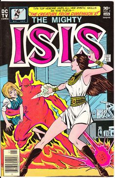 The Mighty Isis 2 Female Superhero DC Comics TV series 1976 Wally Wood by LifeofComics  DC Universe #comicbooks