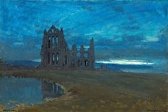 Albert Goodwin Whitby Abbey 1910
