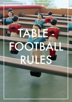 Table-football (fuzboll or foosball or table soccer) Rules - Bonzini at Samui Turquoise Villas