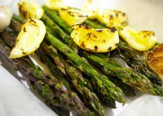 Grilled Asparagus with Grilled Preserved Lemons, wild!