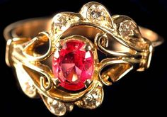 Beautiful ruby ring - Definitely not the traditional wedding band.