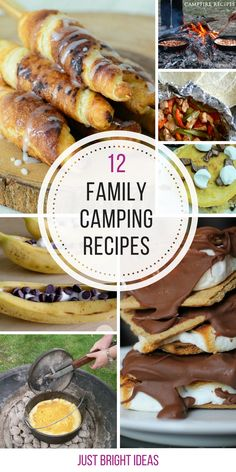 So many easy family camping recipes - can't wait to try those cinnamon rollups!