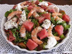 Na Cozinha da Té: Salada de camarão  Num dia de calor não precisamos...