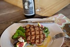 Citrus Brined Pork Chops with Rosemary Roasted Potato, Fig & Spinach Salad - Pair with Silver Oak Cabernet Sauvignon