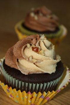 Nutella Peanut Butter Bliss Cupcakes